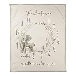 Designs Direct Watercolor Elephant Wreath Throw Blanket