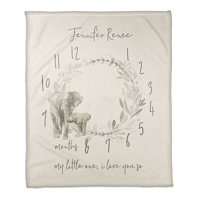 Alternate image 1 for Designs Direct Watercolor Elephant Wreath Throw Blanket
