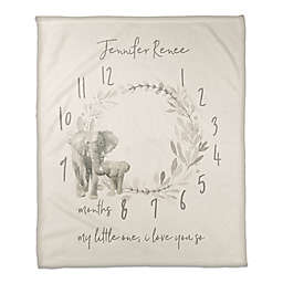 Watercolor Elephant Wreath 50x60 PZ Throw Blanket
