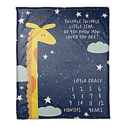 Twinkle Twinkle Giraffe 50x60 PZ Throw Blanket