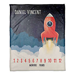 Blast Off Rocket 50x60 PZ Throw Blanket