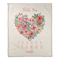 Designs Direct Floral Heart Throw Blanket