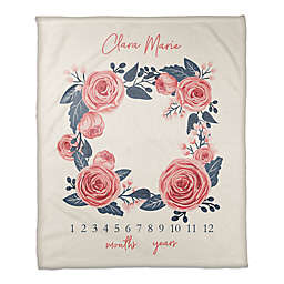Designs Direct Rose Wreath Throw Blanket