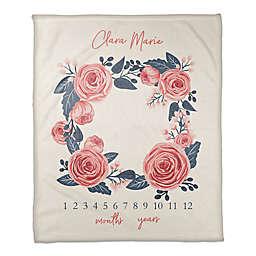 Designs Direct Rose Wreath Throw Blanket