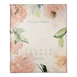 Designs Direct Blush Floral Border Throw Blanket