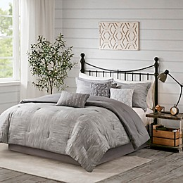Madison Park Walter Seersucker 3-Piece Duvet Cover Set