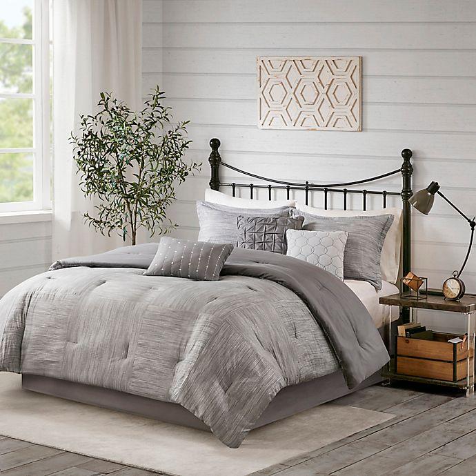 Alternate image 1 for Madison Park Walter Seersucker 7-Piece Comforter Set