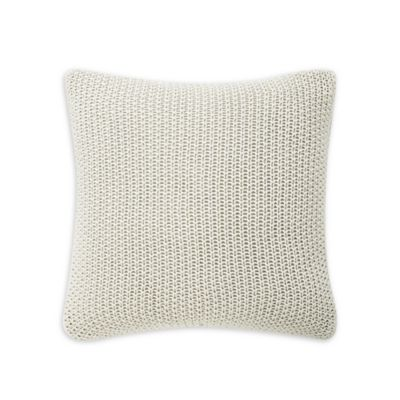 Ivory Square Throw Pillow Cover