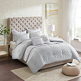 Madison Park Evie Clipped Jacquard 8-Piece Comforter and Coverlet Set
