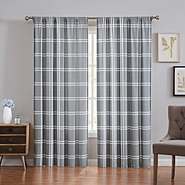 Truly Soft® Leon Plaid 84-Inch Rod Pocket Window Curtain Panel Pair