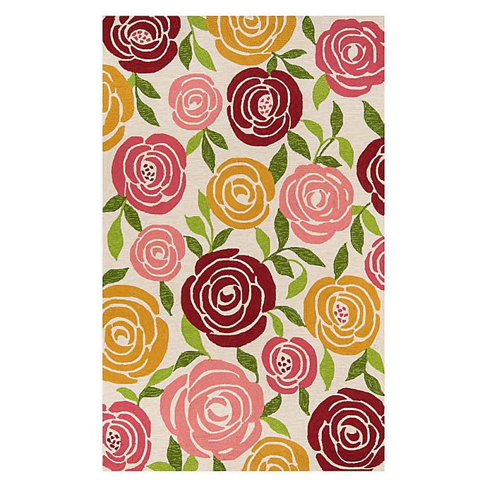 Alternate image 1 for Momeni® Veranda Floral Indoor/Outdoor Multicolor Area Rug