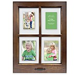 Windowpane 4-Opening 18.5-Inch x 25-Inch Collage Frame in Walnut