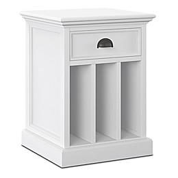 NovaSolo Halifax Nightstand with Dividers in White