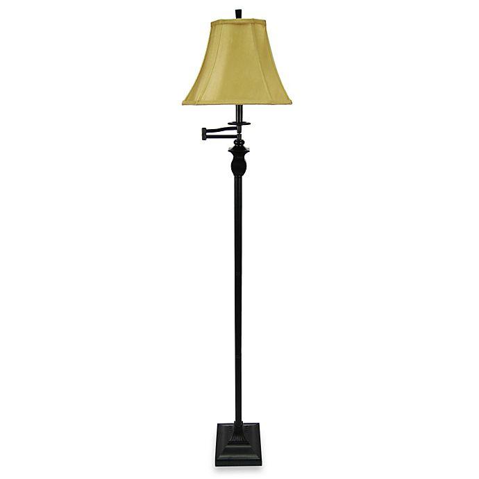 Buy Brass Floor Lamp: Buy 1-Light 58-Inch Metal Floor Lamp In Bronze From Bed
