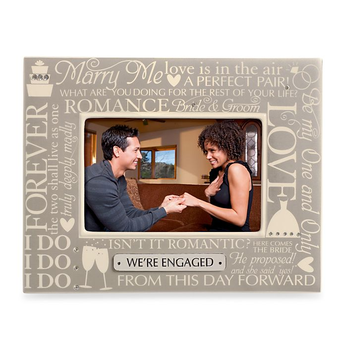 Wedding Engagement 4 Inch X 6 Inch Sentiment Frame Bed Bath And