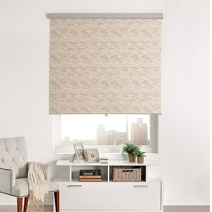 Alternate image 1 for Brielle Distressed Jacquard Roller Shade