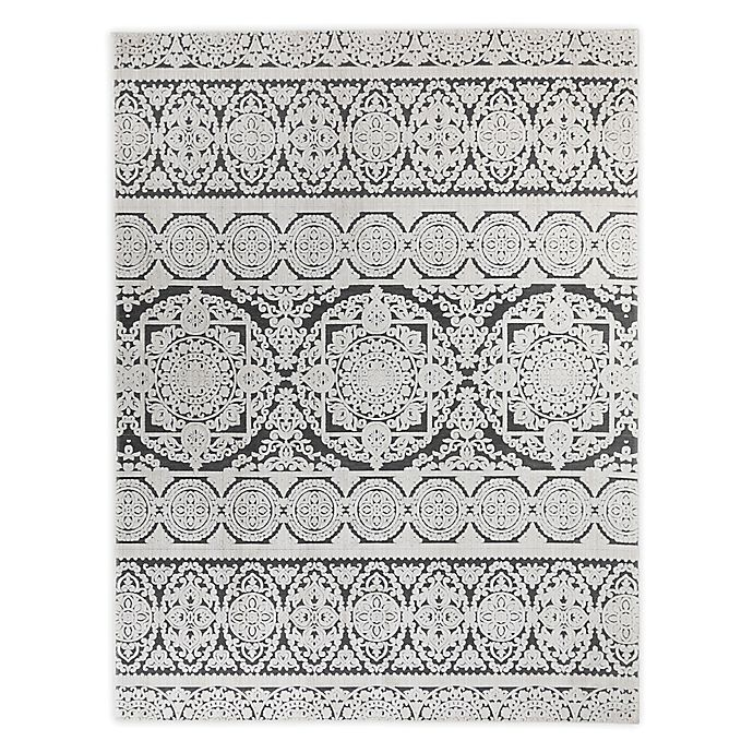 Alternate image 1 for VCNY Home™ Zuri Damask 8' x 10' Area Rug in Ivory/Grey