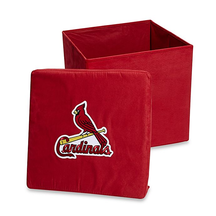 Alternate image 1 for St. Louis Cardinals Collapsible Storage Ottoman