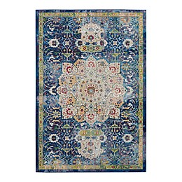 Nourison Global Vintage Lotus Rug in Blue