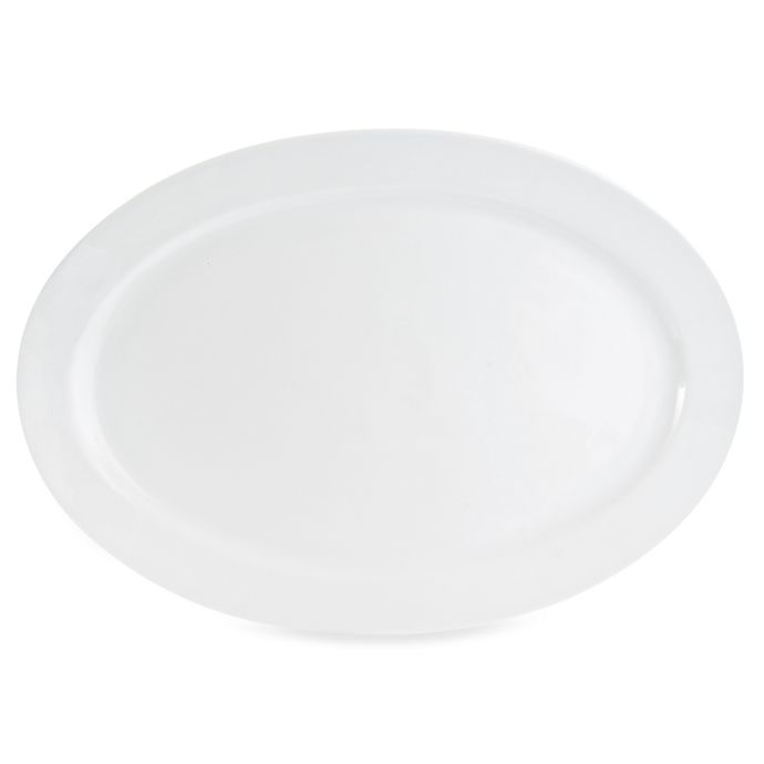 Alternate image 1 for Everyday White® by Fitz and Floyd® 21-Inch Oversized Oval Platter