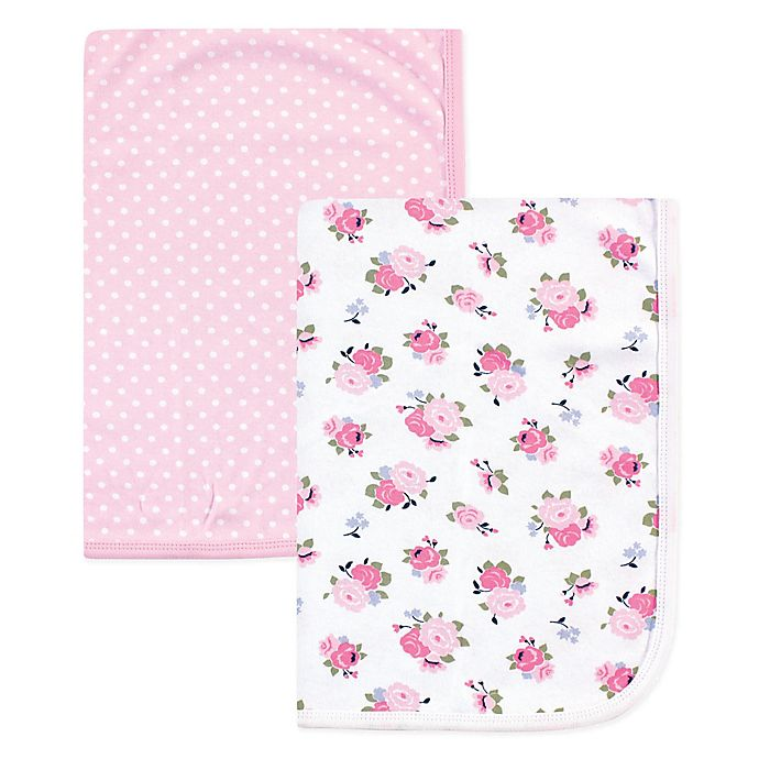 Alternate image 1 for Luvable Friends® 2-Pack Swaddle Blankets in Pink