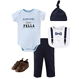 Little Treasure 5-Piece Handsome Fella Layette Set in Blue
