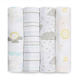 aden+anais essentials® 4-Pack Partly Sunny Cotton Muslin Swaddles