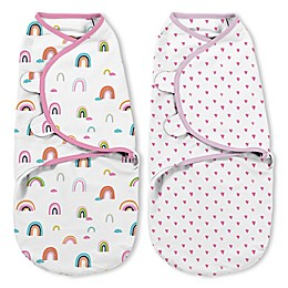SwaddleMe® Small 2-Pack Chasing Rainbows Organic Cotton Swaddles