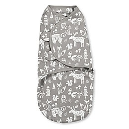 SwaddleMe® Small Chalkboard Woodland Cotton Swaddle in White