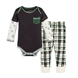 Burt's Bees Baby® 2-Piece Frosted Snowflakes Organic Cotton Bodysuit and Pant Set