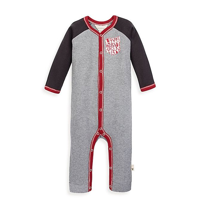 Alternate image 1 for Burt's Bees Baby® Thermal Raglan Organic Cotton Coverall