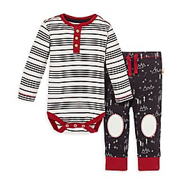 Burt's Bees Baby® 2-Piece Stripe Mountains Organic Cotton Bodysuit and Pant Set