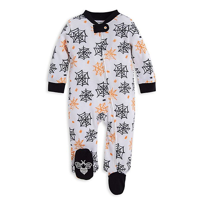 Alternate image 1 for Burt's Bees Baby® Itsy Bitsy Spider Organic Cotton Footie in White
