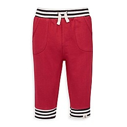 Burt's Bees Baby® French Terry Striped Cuff Jogger Pant in Cranberry