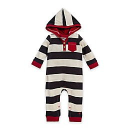 Burt's Bees Baby® Thermal Rugby Stripe Hooded Coverall