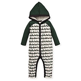 Burt's Bees Baby® On The Line Hooded Coverall in Ivory/Green