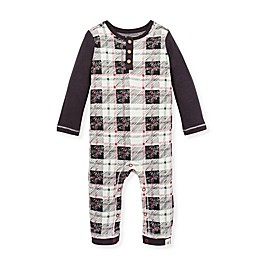 Burt's Bees Baby® Drawn Plaid Henley Coverall