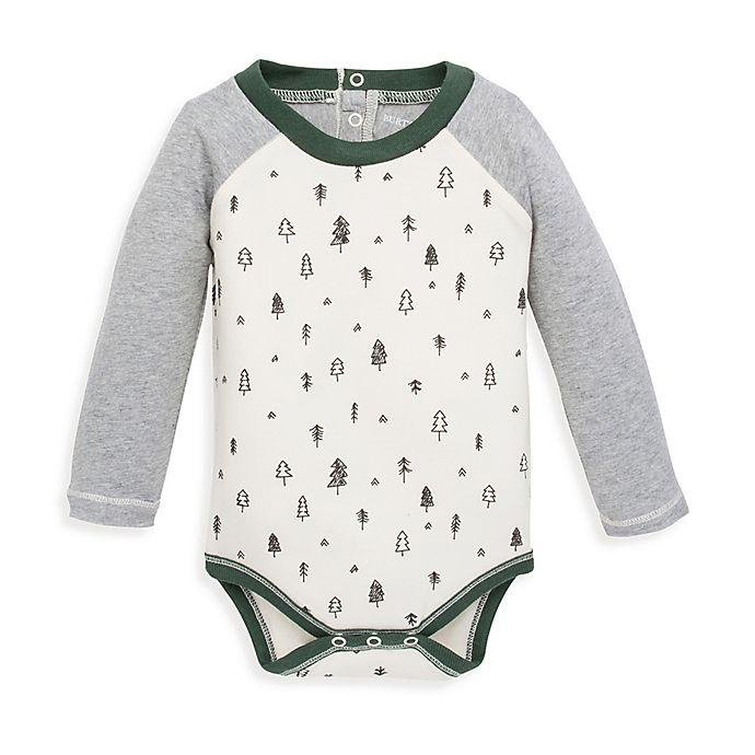 Alternate image 1 for Burt's Bees Baby® Mountainside Raglan Bodysuit in Ivory