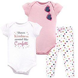 Little Treasure 3-Piece Confetti Layette Set in Pink