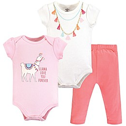 Little Treasure 3-Piece Llama Layette Set in Pink