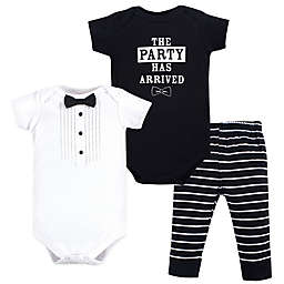 Little Treasure Size 6-9M 3-Piece The Party Has Arrived Bodysuits and Pant Set