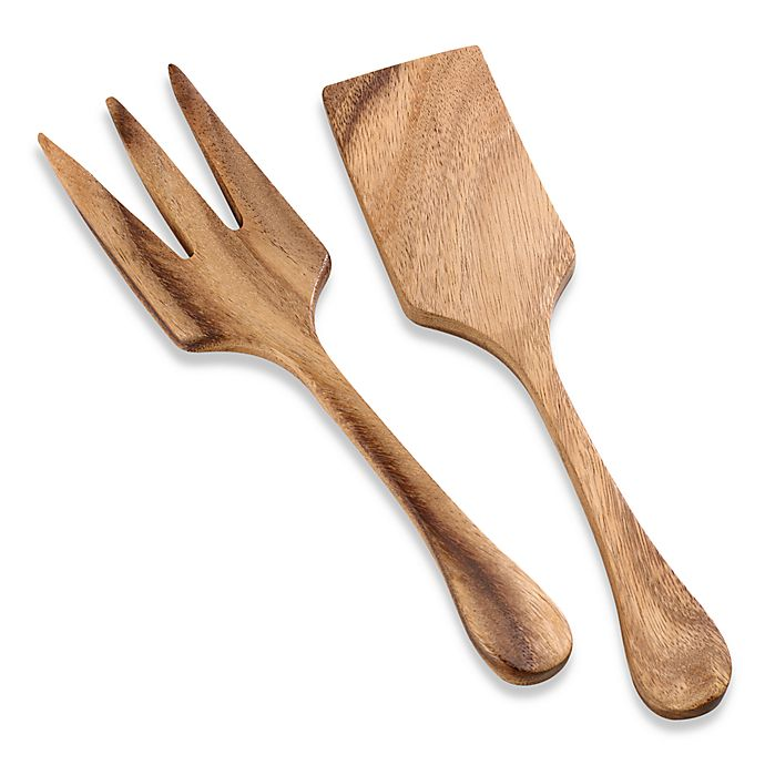 Alternate image 1 for Wood Extra Large Salad Utensils