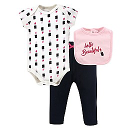Little Treasure 3-Piece Lipstick Bodysuit, Pant, and \