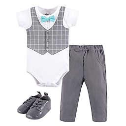 Little Treasure Size 12-18M 3-Piece Mint Bow Tie Bodysuit, Pant, and Shoe Set