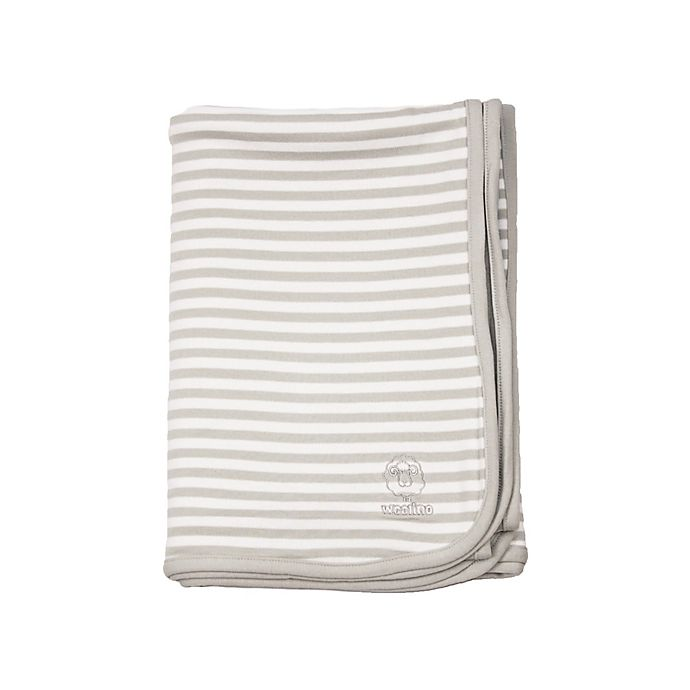 Alternate image 1 for Woolino® Toddler Blanket in Grey