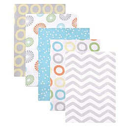 Luvable Friends® 5-Pack Flannel Receiving Blankets in Yellow