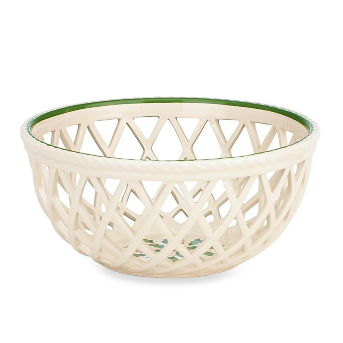 Alternate image 1 for Lenox® Holiday™ 13.5-Inch Open Weave Bread Basket