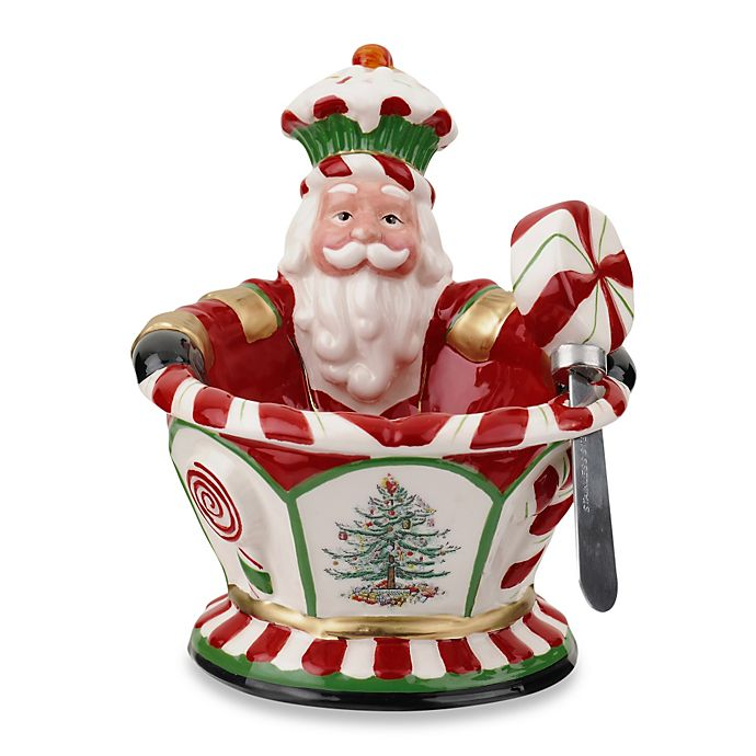 Spode Christmas Tree China Sale: Spode® Christmas Tree Peppermint Figural Nutcraker Dip Set
