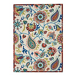 Waverly® Sun N Shade Indoor/Outdoor Paisley 5'3 x 7'5 Area Rug