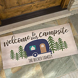 Happy Campers Personalized Doormat